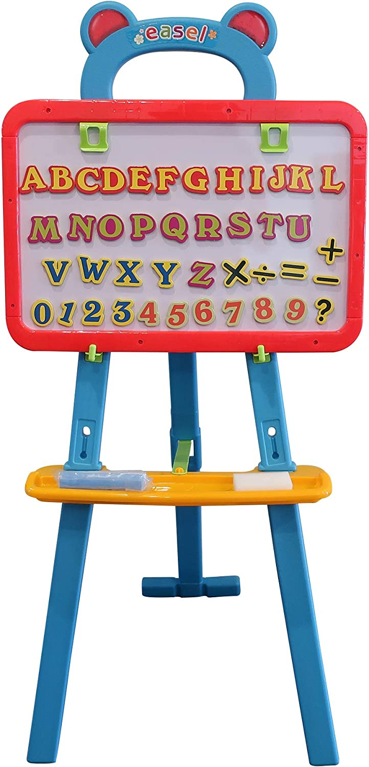 Toddler Drawing Board Pink Chalk /& Eraser Lightweight Letters Includes Numbers Kids Art Supplies Art Easel for Kids 3 in 1 Dual-Sided Magnetic Dry Erase Board and Chalkboard Math Symbols