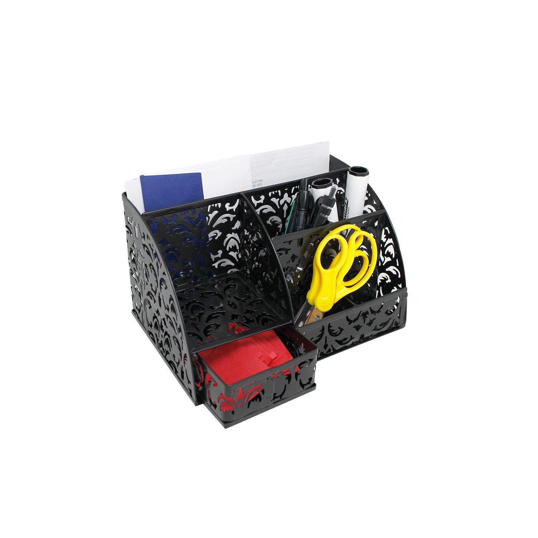 Office Accessories Desk Organizer Caddy with Drawer ,Black