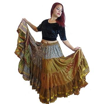 25 Yard Gypsy bellydance Falda, Fusion Tribal Falda de baile ...