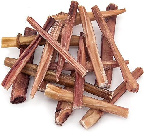 GigaBite 1-Pound Odor-Free Bully Sticks USDA FDA Certified All Natural, Free Range Beef Pizzle Dog Treat