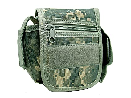 91f4b0e13aee Amazon.com : Tactical Utility Waist Pack Nylon Molle Bag Pouch ...