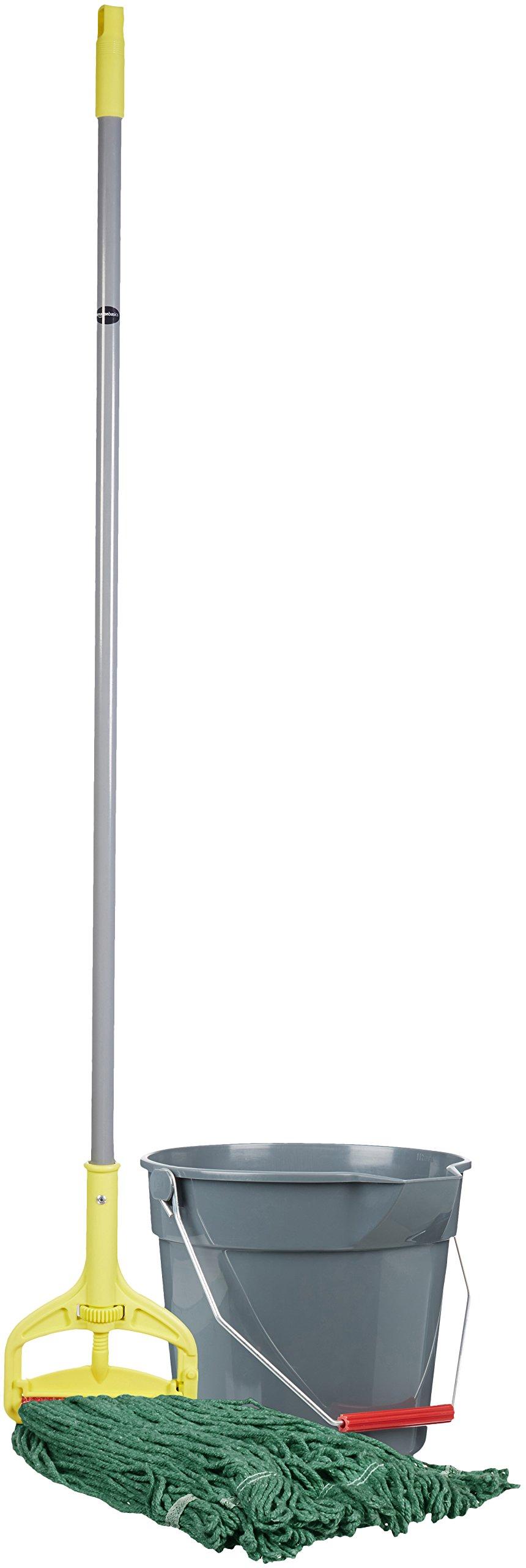 AmazonBasics Loop-End Synthetic Mop Head, 1.25-Inch Headband, Medium, Green - 6-Pack by AmazonBasics (Image #3)