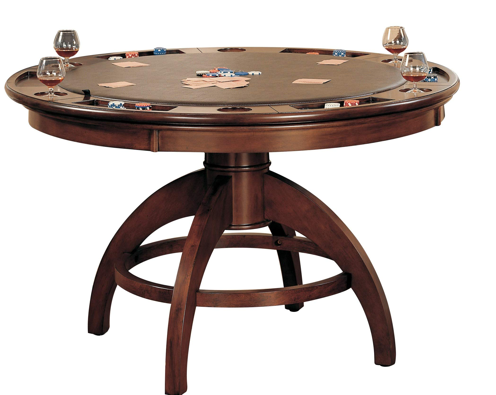 Hillsdale Furniture Palm Springs Game Table, Medium Brown Cherry by Hillsdale Furniture