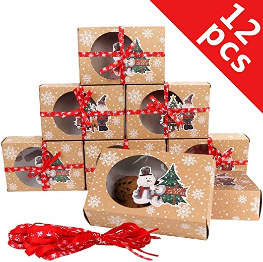 Christmas Gift Party Kids Cupcake Xmas Wrapping Bag 10 Reindeer Food Boxes