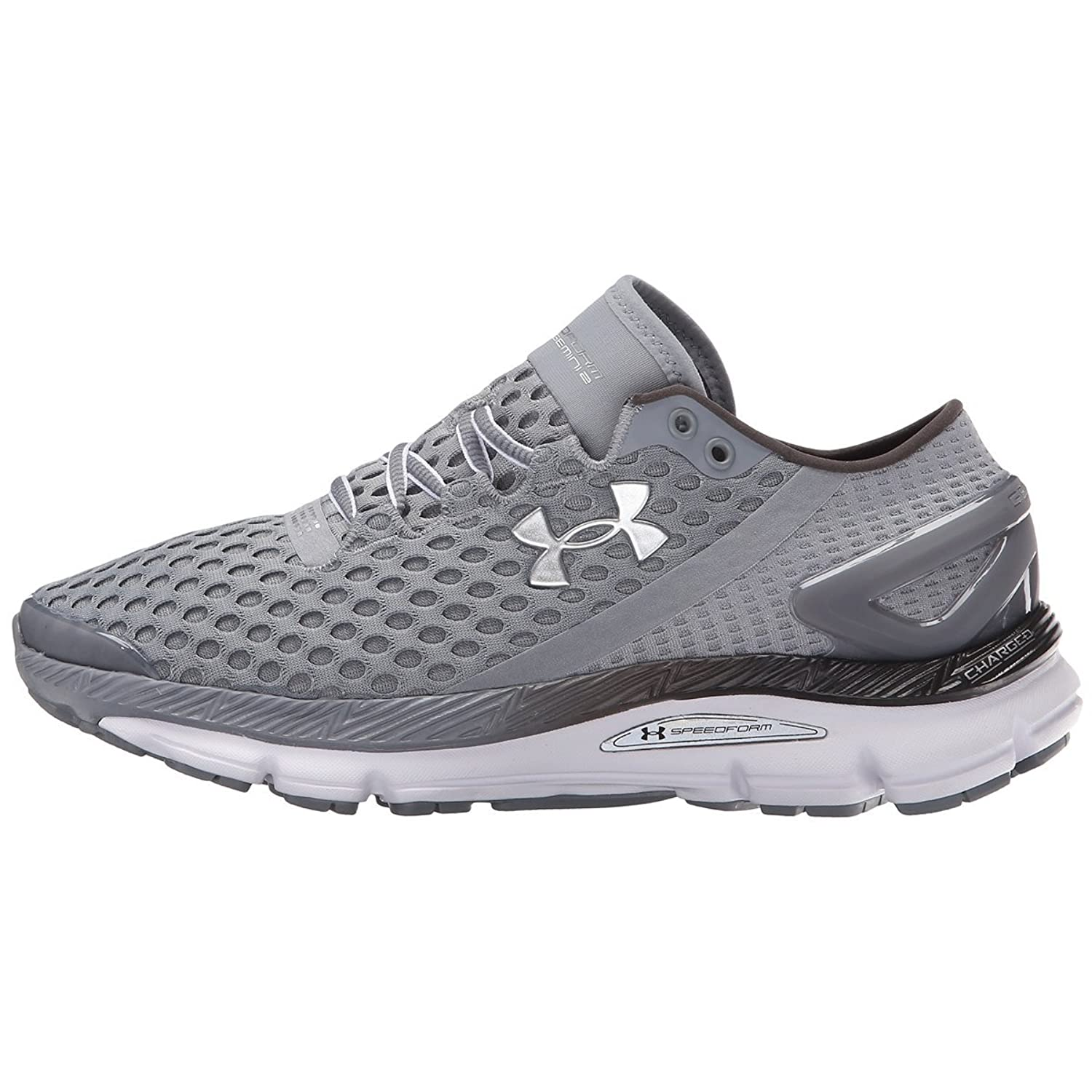 new product e0280 fff1b Under Armour Mens UA SpeedForm Gemini 2 Running Shoes 9.5 Steel low-cost