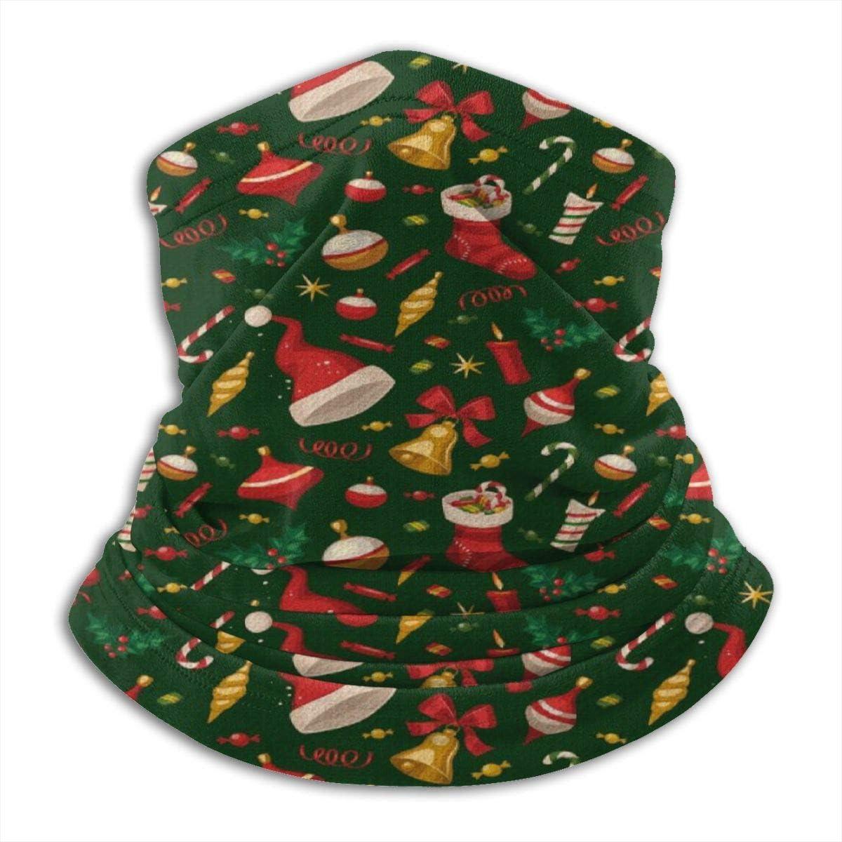Archiba Regalo Divertido de Navidad Calcetín Hant Bell Feliz Invierno Cuello Calentador Mascarilla Cuello Polaina Bufanda Reversible Cuello Envoltura de calefacción