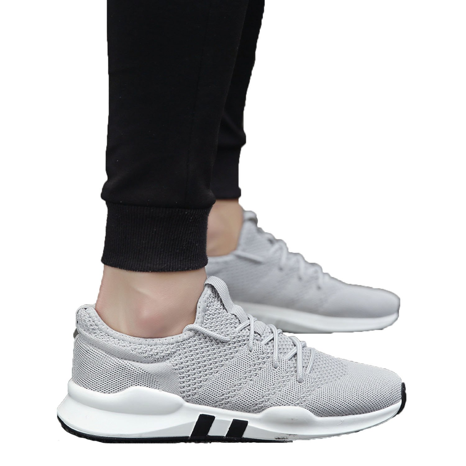 Fashion-Lover Shoes Men 2018 Summer Shoes Trainers Ultra Boosts Zapatillas Deportivas Hombre Breathable Casual Shoes Sapato Masculino Krasovki,Gray,8.5