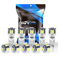 10-pack Marsauto 194 LED Light Bulb for Car Dome Map Deals