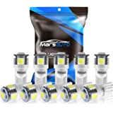 Marsauto 194 LED Light Bulb 6000K 168 T10 2825 5SMD LED Replacement Bulbs for Car Dome Map Door Courtesy License Plate…