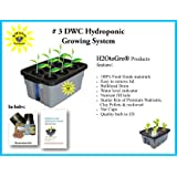 Complete Hydroponic System DWC Grow Box and Lid ~ # 3-6 H2OtoGro