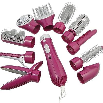 Cepillo de aire caliente, 10 en 1, secador de pelo en un ...