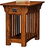 Leick Furniture Mission Chairside Table, Medium Oak
