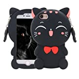 Amazon Price History for:Maoerdo Cute 3D Cartoon Black Plutus Cat Lucky Fortune Cat Kitty with Bow Tie Silicone Rubber Phone Case Cover for Apple iPhone 5 5S 5C SE 6 6S 7 7S Plus Samsung Galaxy S3 S4 S5 S6 S7 S8 Edge LG etc.