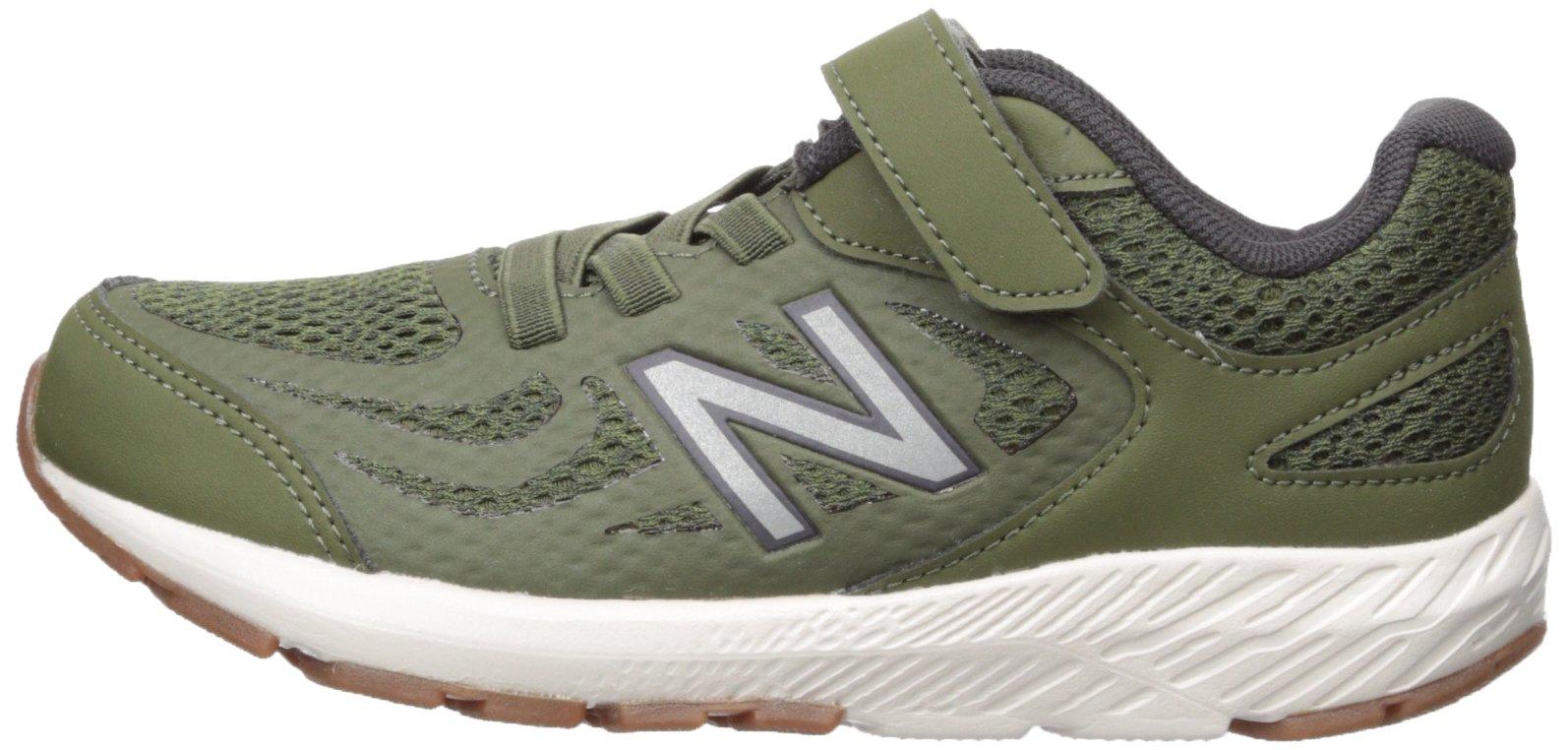 New Balance Boys' 519v1 Hook and Loop Running Shoe Dark Covert Green/Phantom 2 M US Infant by New Balance (Image #5)