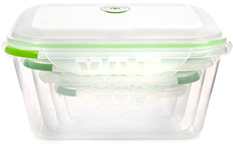 Amazoncom Ozeri INSTAVAC Green Earth Food Storage Container Set
