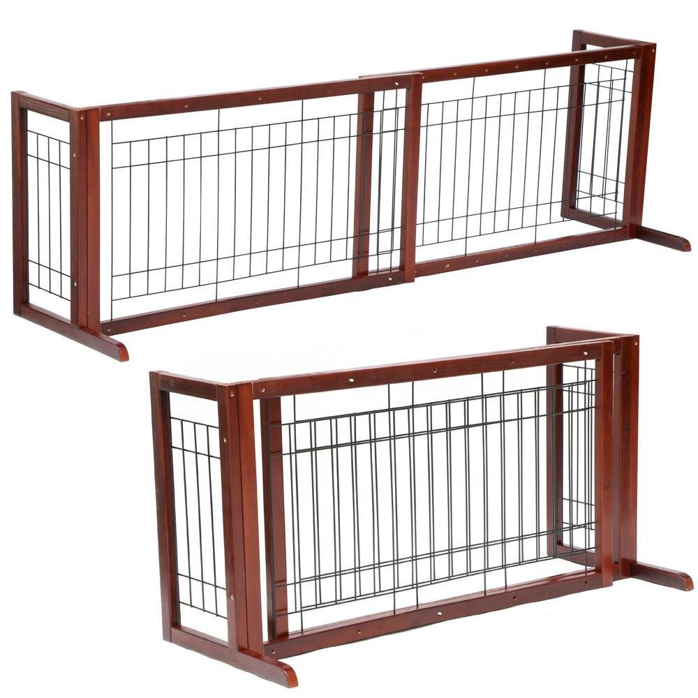 Amazon.com : Topeakmart Adjustable Indoor Pet Fence Gate, Free ...