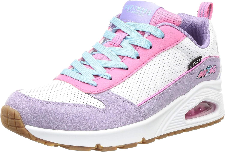 Skechers Street Uno Damen-Sneaker Weiß Violett Rosa