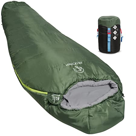 REDCAMP Mummy Sleeping Bag for Backpacking, Lightweight Portable Camping Hiking Sleeping Bag for Adults