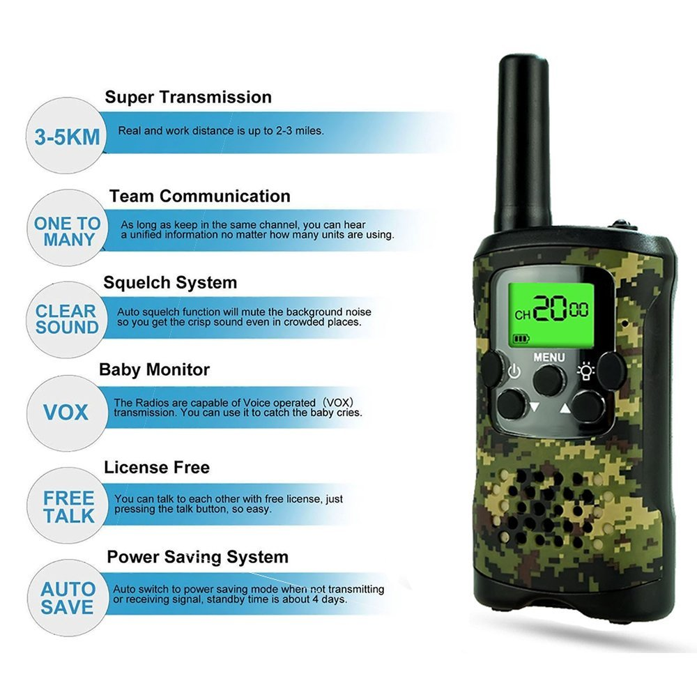 TOP Gift Outdoor Toys Walkie Talkies for Kids, Handheld Walkie Talkies for Kids Toys for 3-12 Year Old Boys Girls 2018 Christmas New for Kids Boys Girls 3-12 Green TGDJ01 by TOP Gift (Image #6)