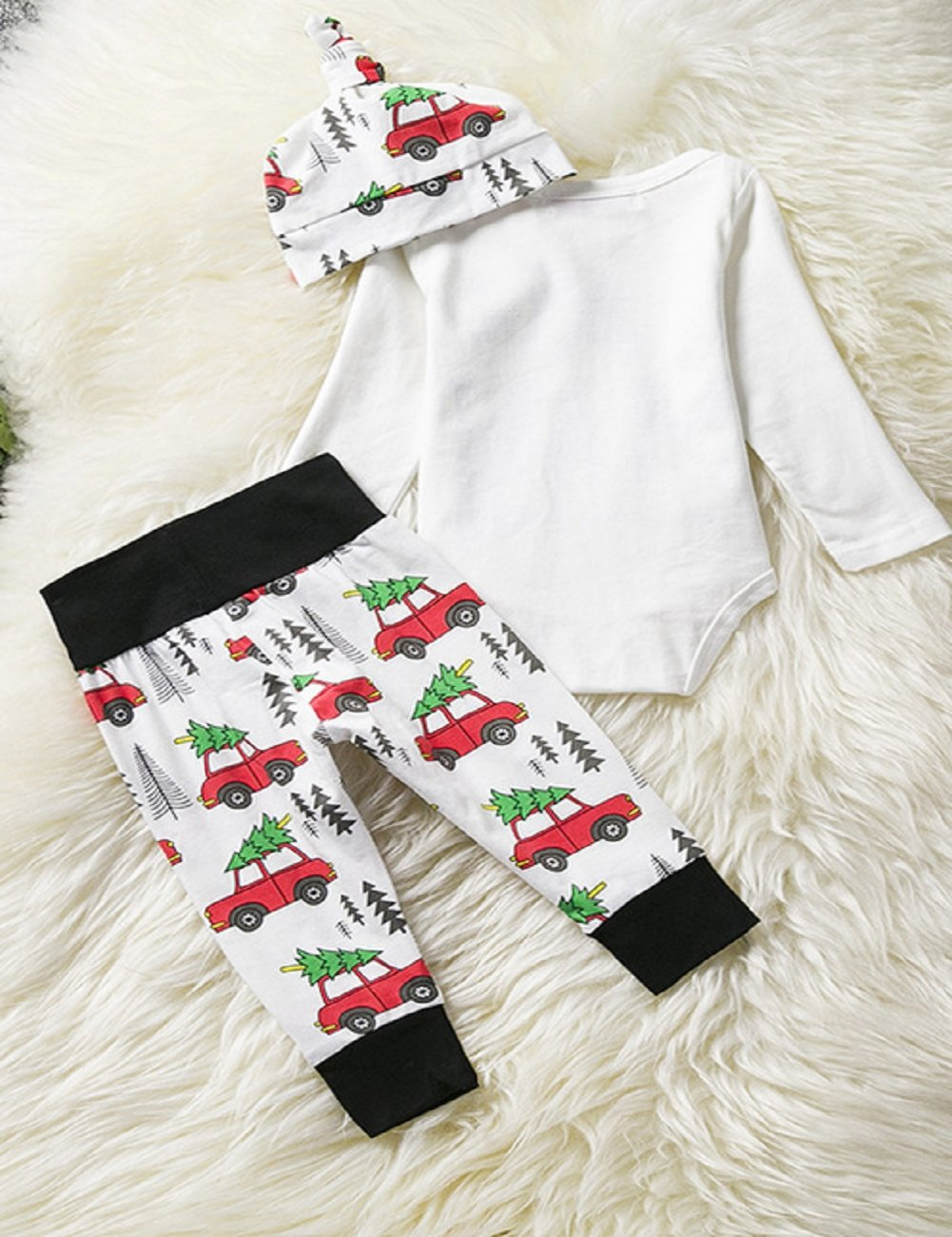 Amazon.com: Kids Christmas Set, SRYSHKR Baby Xmas Tops + Pants Home Outfits Pajamas hat 3pcs Set (3-6M, Red): Office Products