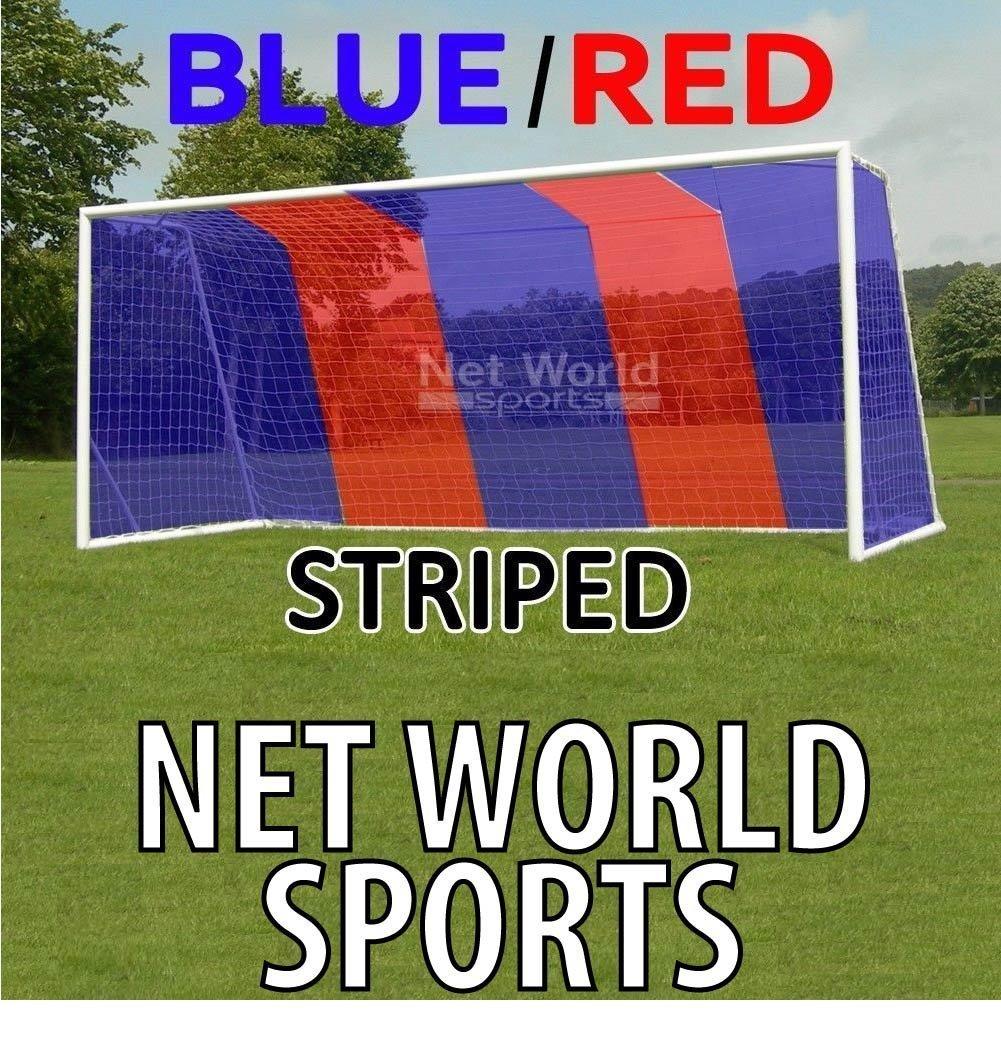 Hochwertiges Tornetz, 7,3 x 2,4 m Blau Rot, mit oberer Tiefe [Net World Sports]