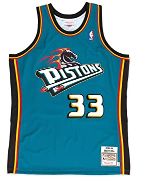 Mitchell & Ness - Camiseta Grant Hill Detroit, 1998, NBA, color azul