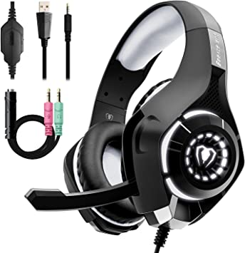 Beexcellent Stereo Bass Surround Gaming Headset for PS4 New Xbox One PC with Mic