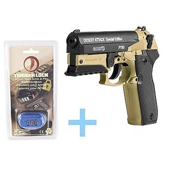 Pack Gamo Pistola Edición Aire Attack Comprimidoco2Pt Desert 80 EDW9Y2HI