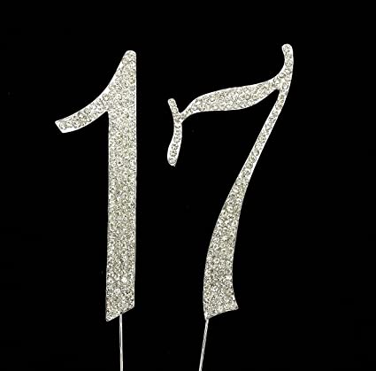 Amazon Numbrer 17 For 17th Birthday Or Anniversary Cake Topper