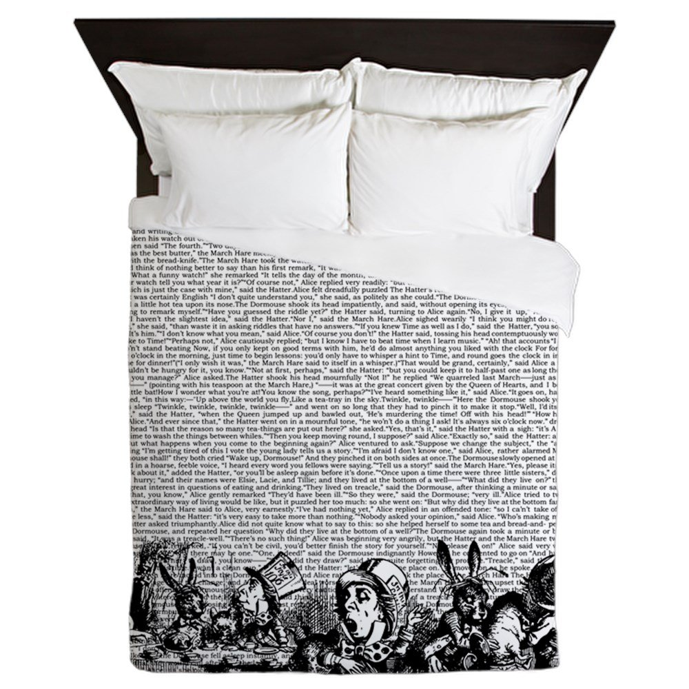 CafePress - Vintage Alice Text And Border - Queen Duvet Cover, Printed Comforter Cover, Unique Bedding, Microfiber