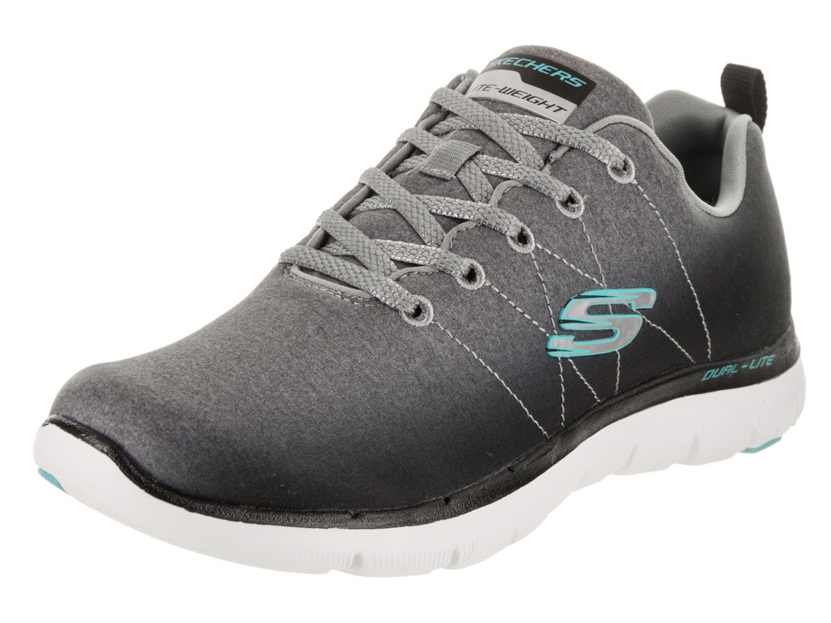 Skechers Flex Appeal 2.0 High Energy - Zapatillas Mujer 38.5 EU|Black/Gray