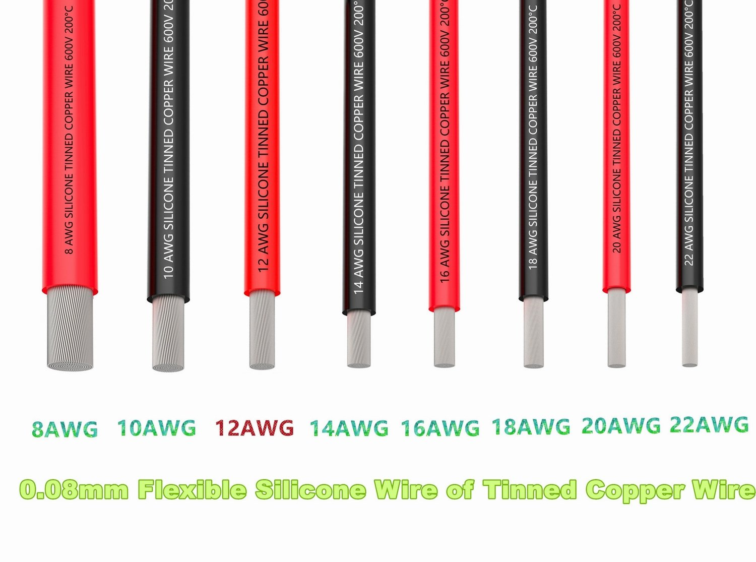 Tuofeng 12 Gauge-Draht, ELECTRICAL Wire, 12 AWG Silikon Draht Hook ...
