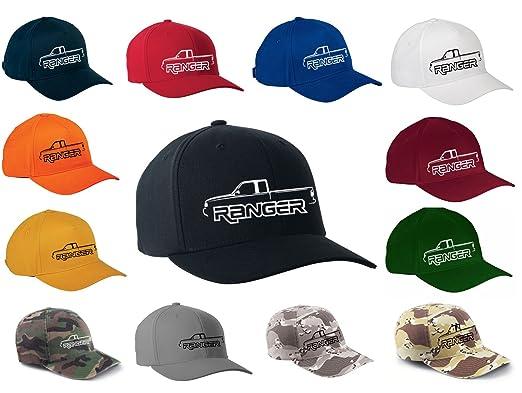 51f27ec756 Ford Ranger Pickup Truck Classic Outline Design Flexfit hat cap  small/medium black