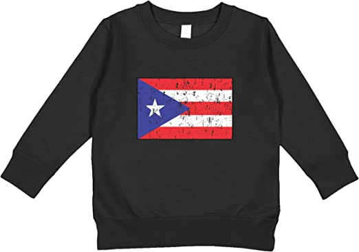 Puerto Rico Flag Boricua Resiste Kids Crewneck Long Sleeve Shirt Tee for Toddlers