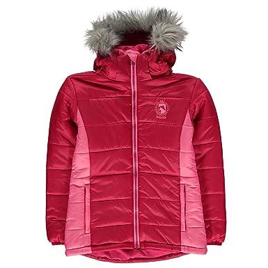 2bee314c9 Requisite Kids Girls Padded Jacket Long Sleeve Hooded Zip  Amazon.co ...