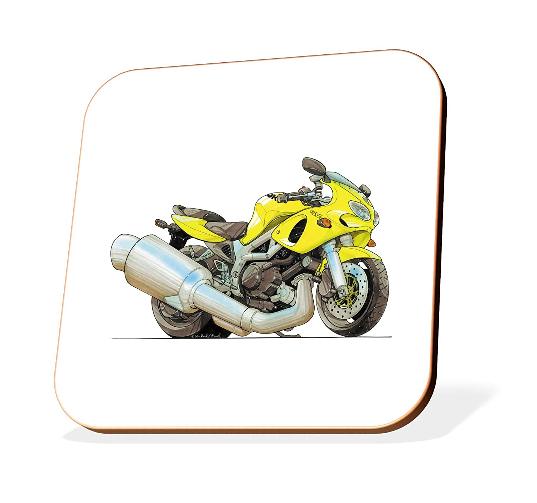 K1320-CST Koolart Gifts Cartoon Suzuki SV650 Motorcycle Wooden Coaster for Cups & Mugs (Motorbike Gifts & Gift Ideas): Amazon.co.uk: Car & Motorbike
