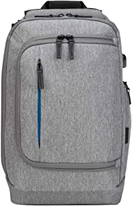 Targus CityLite Pro Modern Premium Convertible Backpack for 15.6-Inch Laptop, Grey (TSB939GL)
