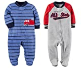 Carter's Baby Toddler Boy's 2 Pack Fleece Footed