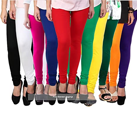 e12a1c9b4ad445 Pixie Women's Cotton and Lycra Leggings(CL160GSMCOMBO10, Multicolour ...
