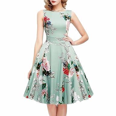 super-dresses 2018 Summer Women Vintage Plus Size Print Floral Elegant Party Casual Dress Female
