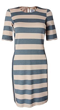 1f07c1645e6 Oasis size XS - L Grey Beige Stripe Shift Tunic Dress: Amazon.co.uk ...