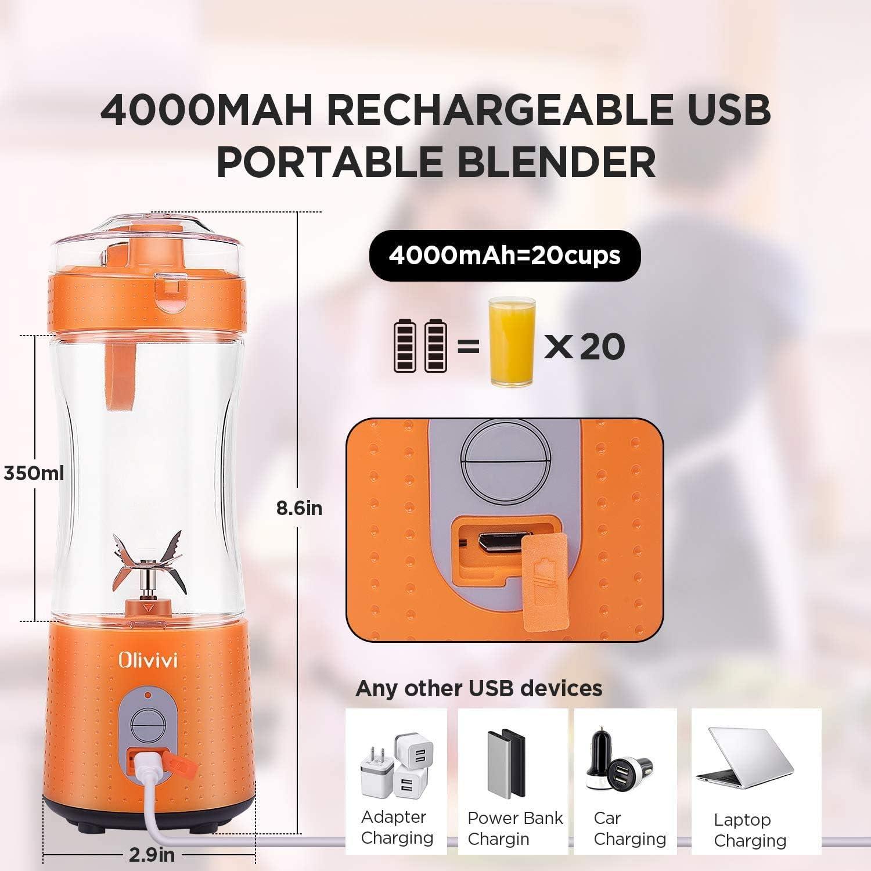 Olivivi Exprimidor portátil Mini licuadora Exprimidor eléctrico ...
