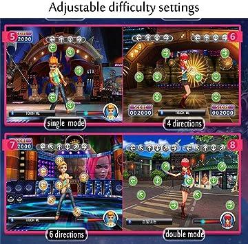 TV AV Videojuego Dance Mats Pads Alfombrilla De Baile USB HD Antideslizante para Baile Alfombra Dance Doble Somatosensorial 3D Inal/ámbrico Tapete De Juego Musical Aplicable A Adultos//Ni/ños