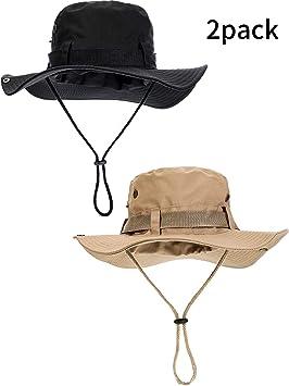 niño venta online atesorar como una mercancía rara Boao 2 Piezas Sombrero de Safari de Algodón Gorra de Pescado con Viseras  Anchas Sombrero de Sol al Aire Libre de Doble Cara Gorro Plegable para ...