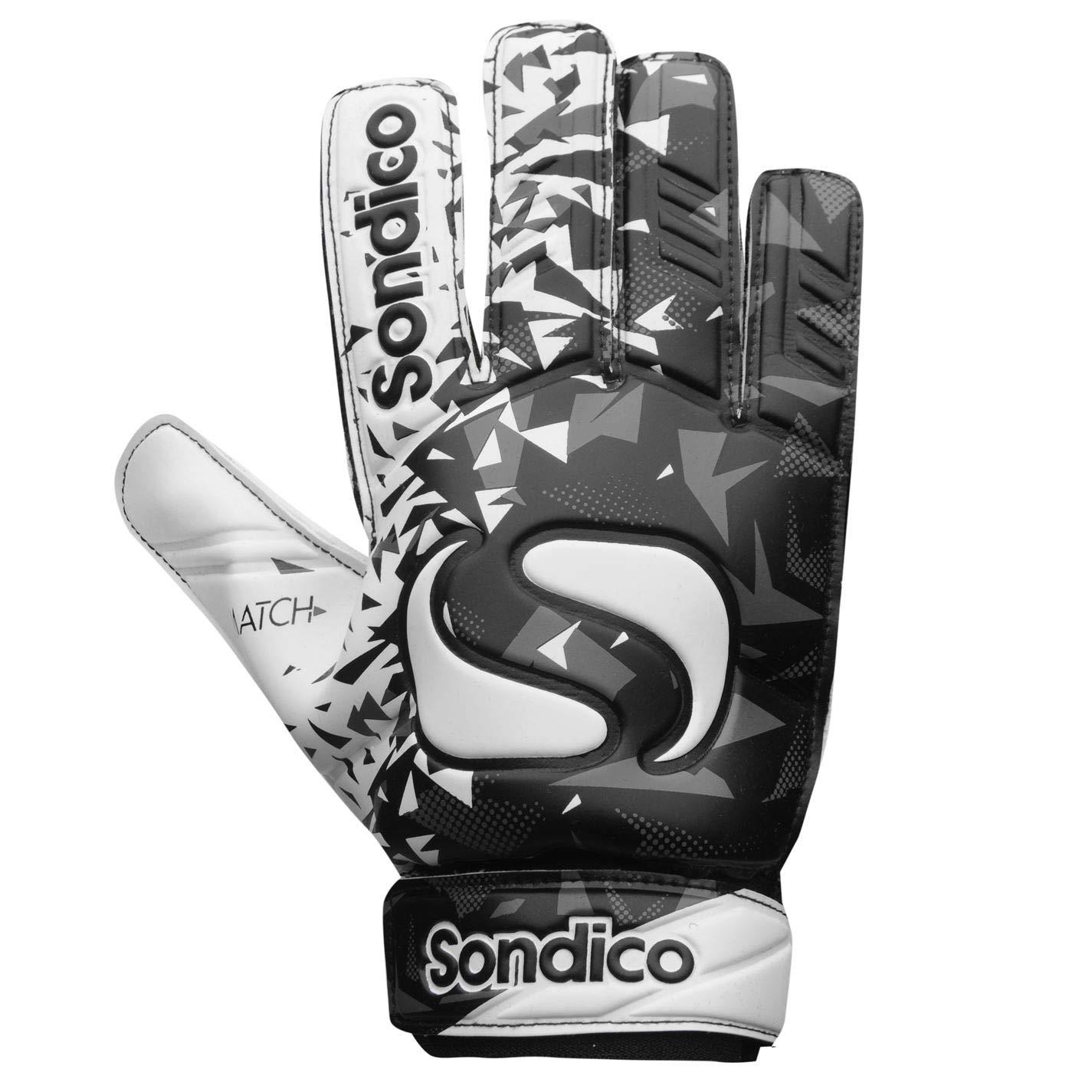 Sondico Herren Match Fußball Torwart Handschuhe Klettverschluss