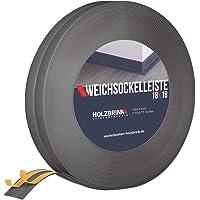 70x20 mm HOLZBRINK Perfil de Suelo Autoadhesivo Suave Negro Pre Cortado Cinta PVC 5 m