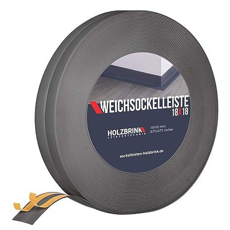 25 Meter 32x23mm HOLZBRINK Weichsockelleiste selbstklebend EICHE HELL Knickleiste