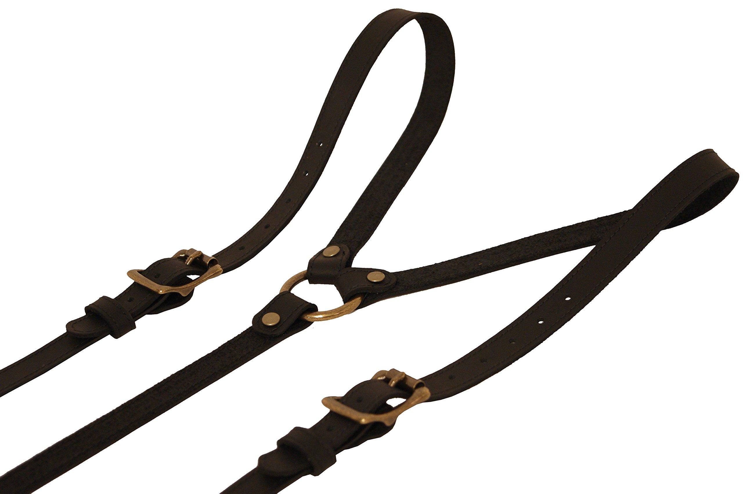 Project Transaction Men's Leather Suspenders XL Black/Antique Buttonholes by Project Transaction (Image #2)