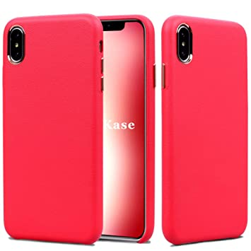 coque iphone xs apple cuir rouge