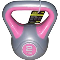 COUGAR 2 Kg Kettlebell (Pink and Grey)